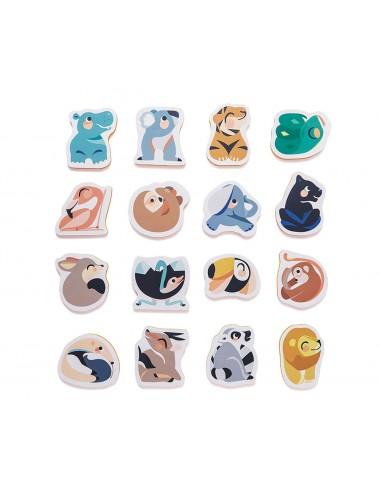 Puzzle baños animales salvajes