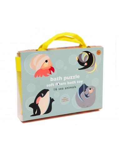 Puzzle baño animales marinos